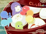 超唯美小鸡彩虹可爱动漫图片
