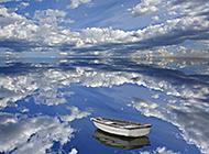 水如镜山如画唯美风景图片