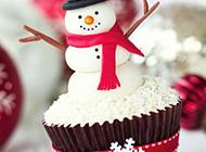 浪漫冬日唯美圣诞雪人图片