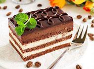 下午茶甜点巧克力慕斯蛋糕图片