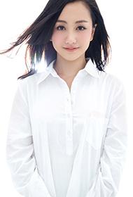 杨蓉简约白衬衫甜美逆光特写