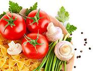 美味食物番茄做法组合的图片