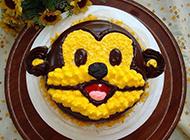 大嘴猴卡通生日蛋糕图片