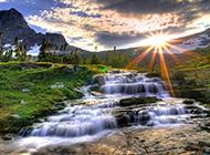 高清摄影美丽的瀑布