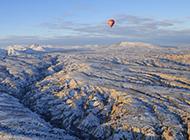 冬天里的土耳其高清风景图片