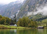 国王湖唯美清新自然风景图