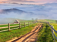 田园乡村优美风景图片高清壁纸