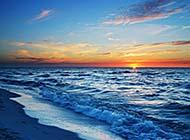 唯美晨曦浪漫海边风景美图集