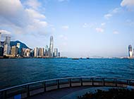 香港维多利亚港全景高清图片