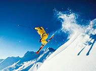 美丽的阿尔卑斯山脉雪景图片
