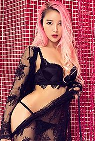 亚洲性感模特龙儿少女粉色诱惑人体图片