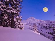 江山如画养眼雪山夜景壁纸