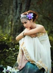 韩国大眼美女人体模特樱花树写真