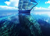 广阔无垠的海景风光壁纸欣赏