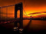 乔治·华盛顿大桥风光唯美图片