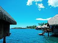 晴空万里的马尔代夫风景图片