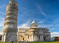 欧洲复古建筑比萨斜塔图片