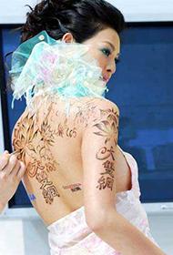 林嘉绮人体彩绘现场图片