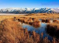 新西兰山水平原风景图片