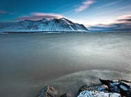温暖的北国冰岛自然风景高清图片