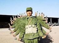 军队里的千手观音图片