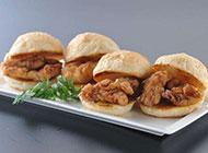 鸡肉汉堡图片小巧美味