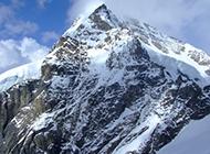 勃朗峰雪山自然风光图片