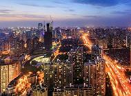 上海城市风景图片迷离梦幻