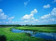 夏日辽阔绿色草原高清桌面壁纸
