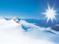 阿尔卑斯山滑雪高清壁纸