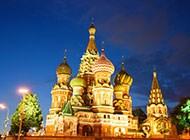 高清圣彼得堡迷人夜景图片