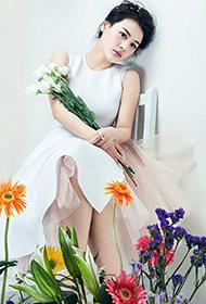 马思纯与花 时尚封面写真