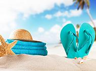 迷人的夏日沙滩高清风景图片