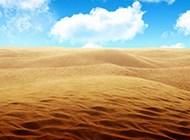 护眼秋天沙漠风景高清壁纸