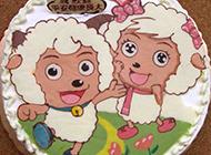 可爱诱人的喜洋洋卡通蛋糕图片