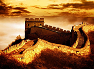 中国名胜古迹万里长城唯美山水风景图片