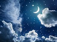 优美的星空风景高清图片素材