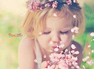 超可爱甜美的小女孩唯美图片