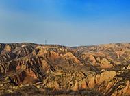 陕北黄土高原风景气势磅礴