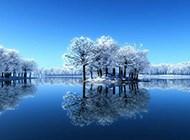迷人大自然雪景风光壁纸