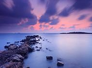 夕阳唯美意境风景图片