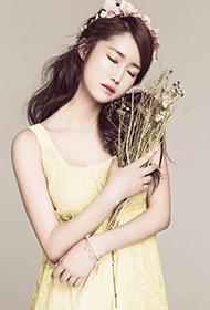 韩国女星郑珠妍花精灵唯美素雅照