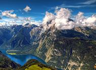 蓝色风景图片唯美大自然壁纸
