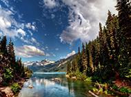 湖光山色自然风景唯美摄影