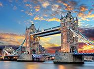 英国名胜古迹伦敦塔桥欧美唯美图片