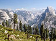 美国加州森林山川风景图片壁纸