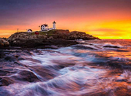 日出沧海精美海景风情桌面壁纸