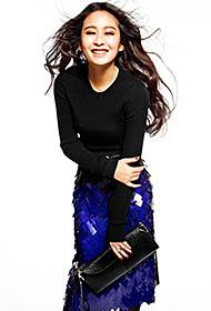 刘颖演绎个性时尚写真照