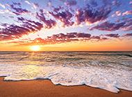 超好看的海边沙滩唯美风景图片
