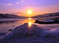 海边夕阳风景图片绯红浪漫